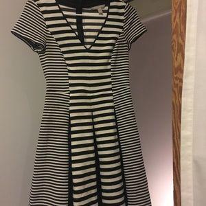 Black and white stripe Banana Republic dress